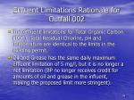 effluent limitations rationale for outfall 002