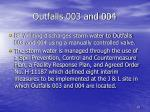 outfalls 003 and 004