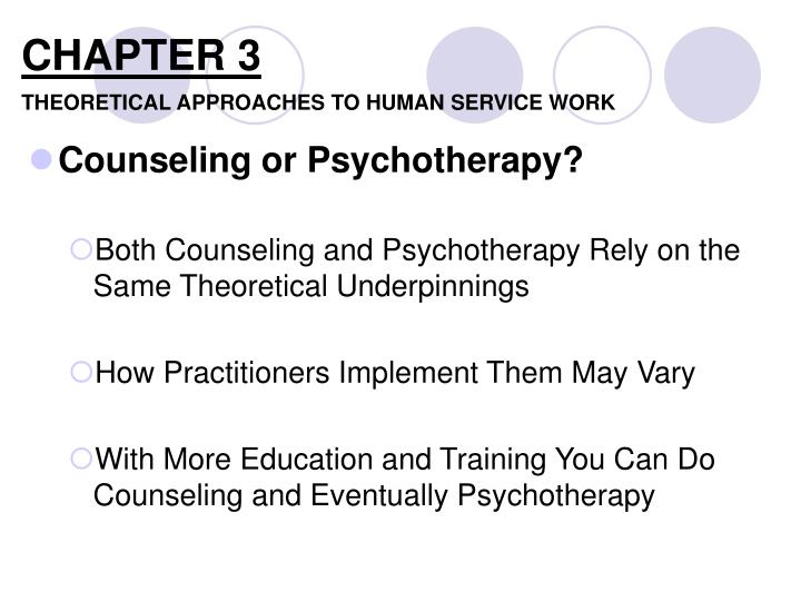 chapter 3 theoretical approaches to human service work n.