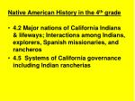 native american history in the 4 th grade