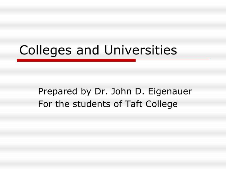 colleges and universities n.