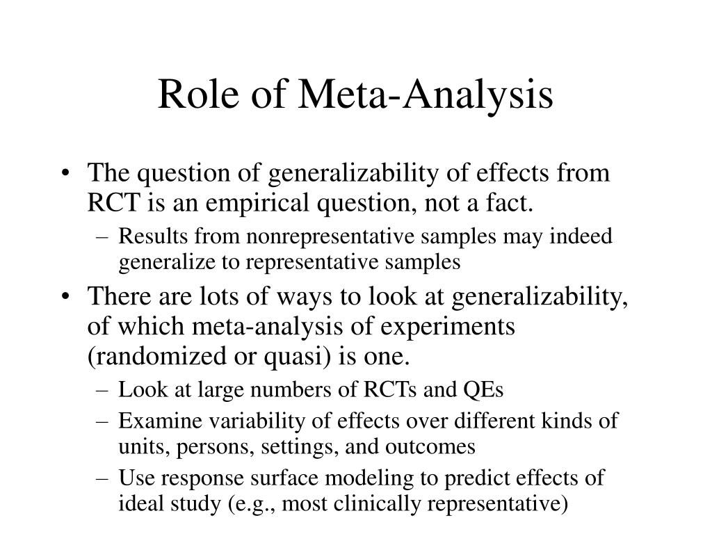 Role of Meta-Analysis