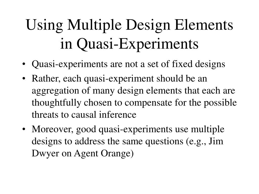 Using Multiple Design Elements in Quasi-Experiments