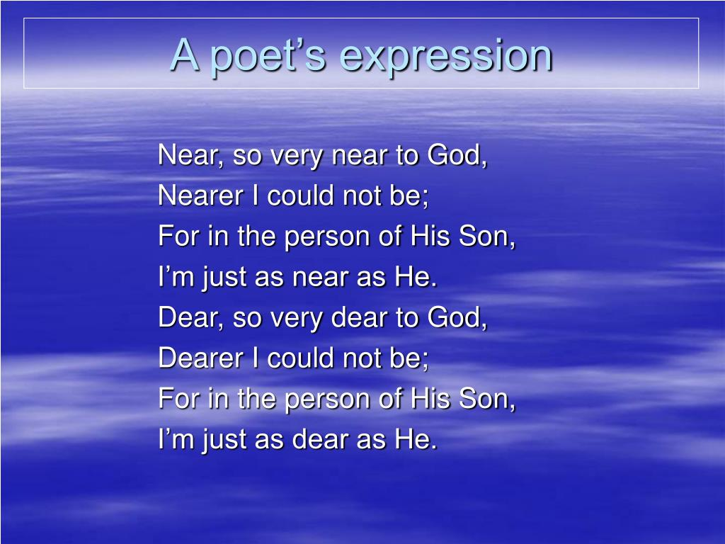 A poet's expression