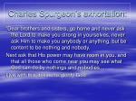 charles spurgeon s exhortation