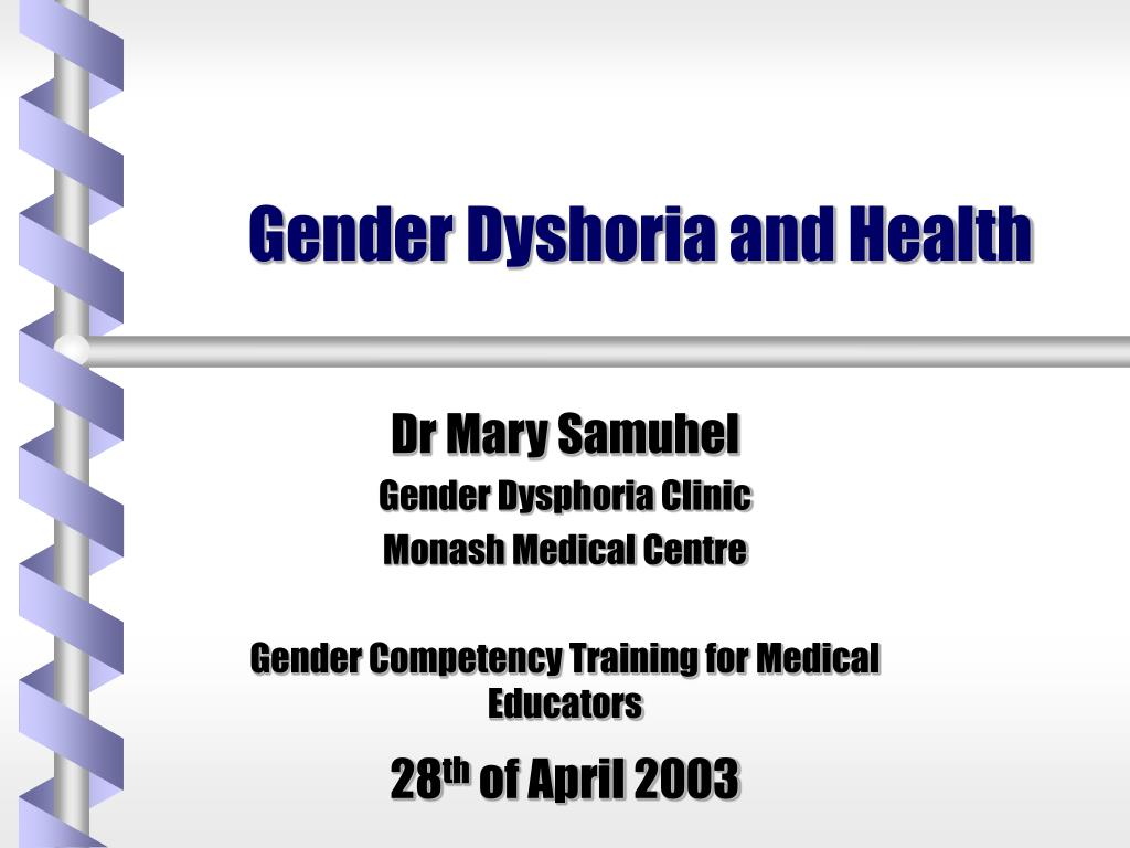 gender dyshoria and health l.