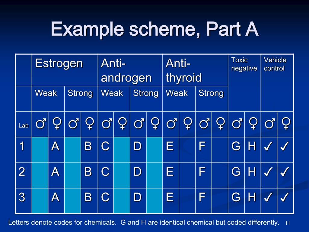 Example scheme, Part A