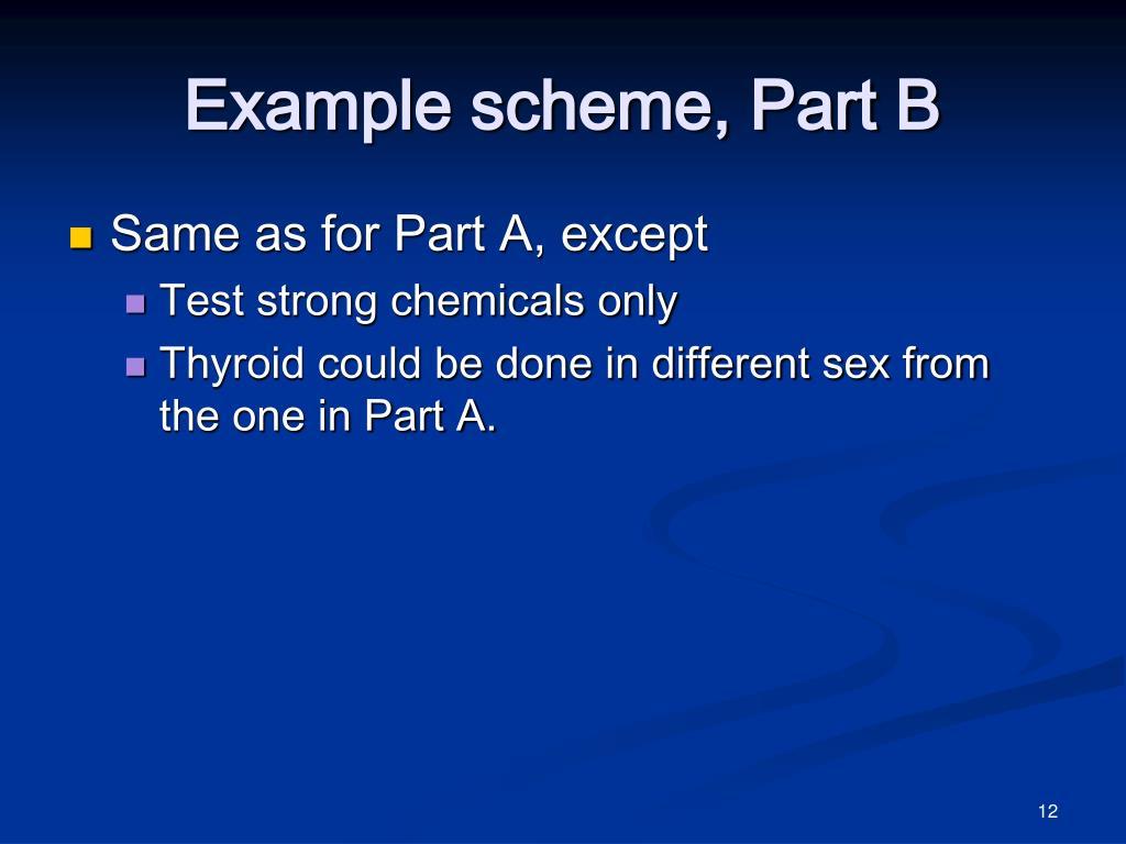 Example scheme, Part B