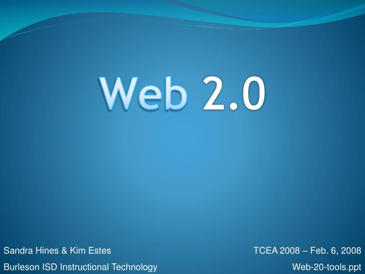essays web 2.0 Introduction to web 20 joshua stern, phd in a fundamental way instead of primarily being passive consumers of information, more and more.