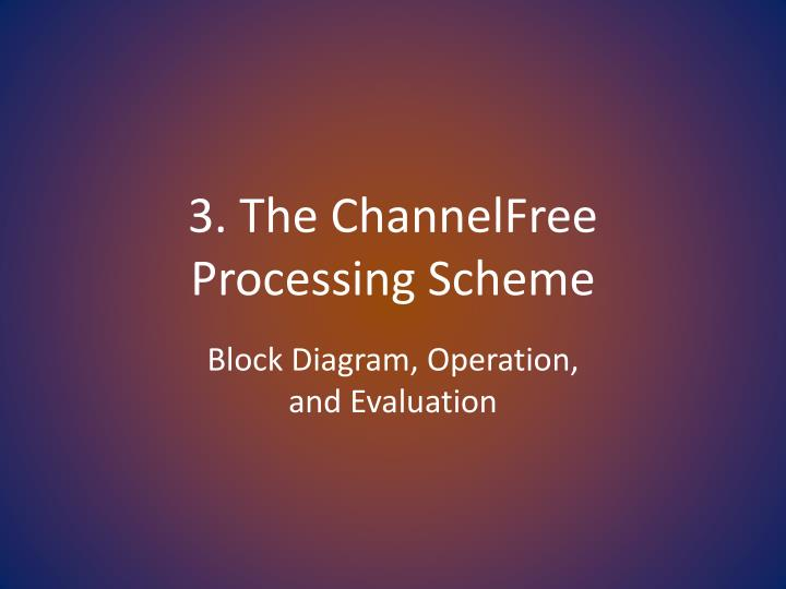 3. The ChannelFree      Processing Scheme