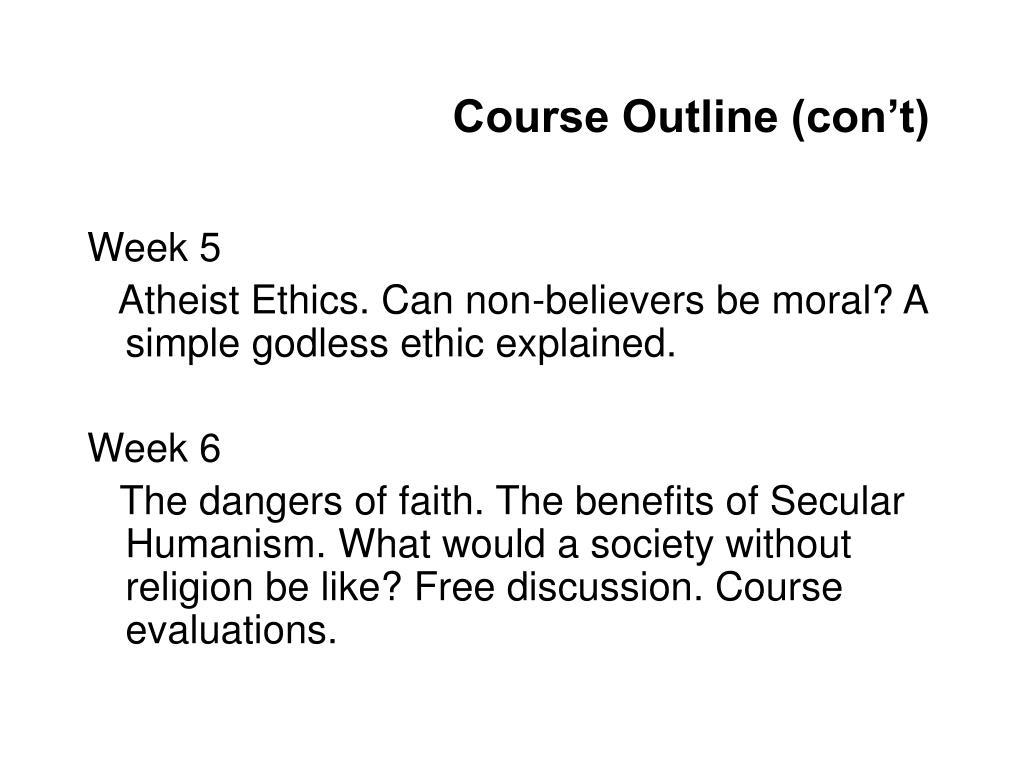 Course Outline (con't)