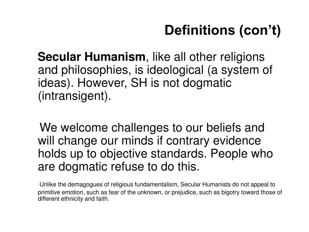 Definitions (con't)