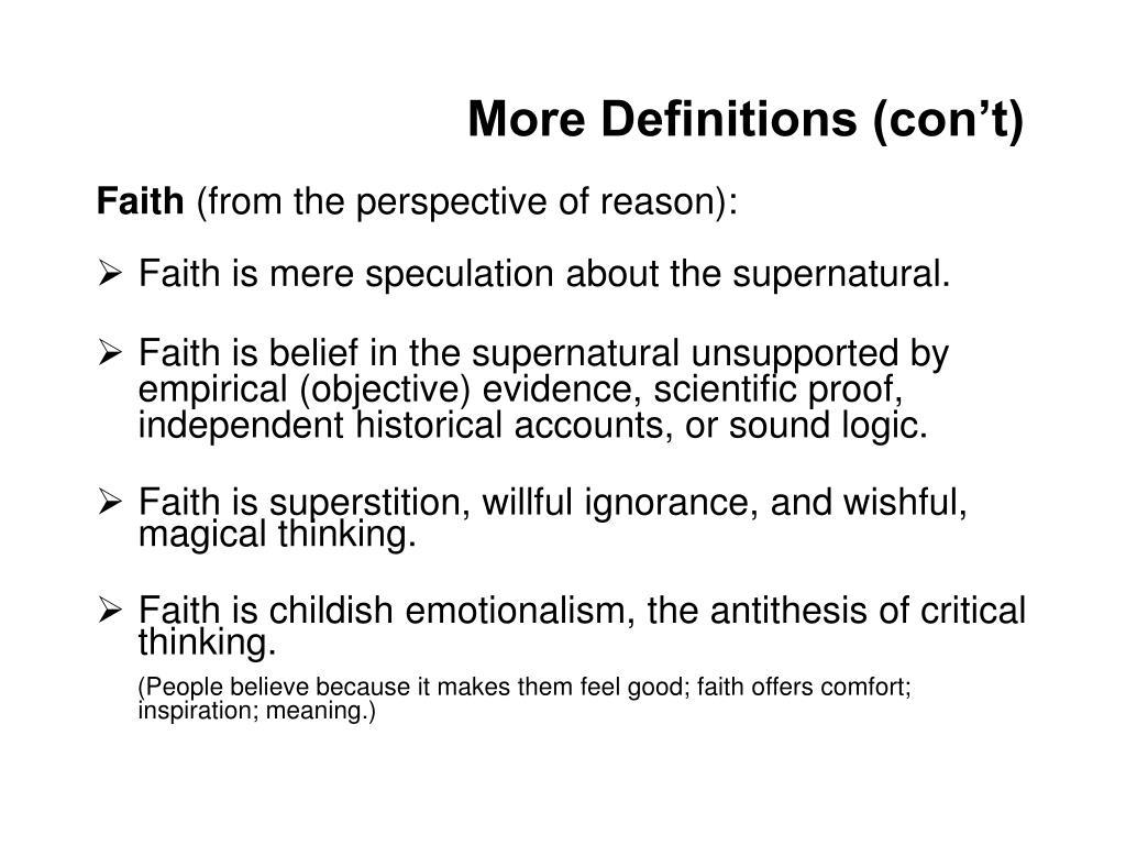 More Definitions (con't)