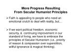 more progress resulting from secular humanist principles8