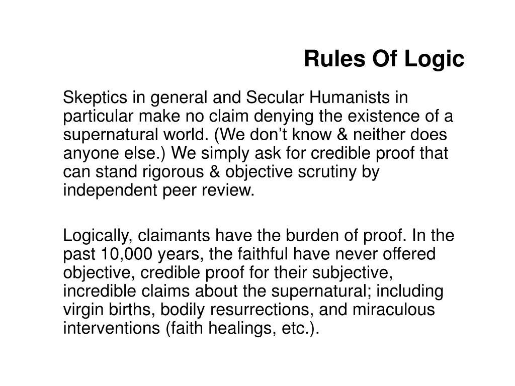 Rules Of Logic