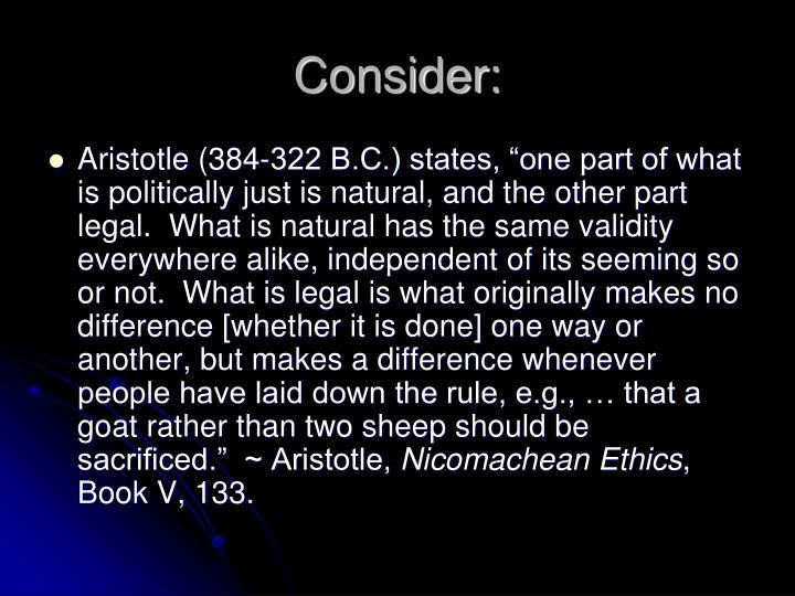 Consider: