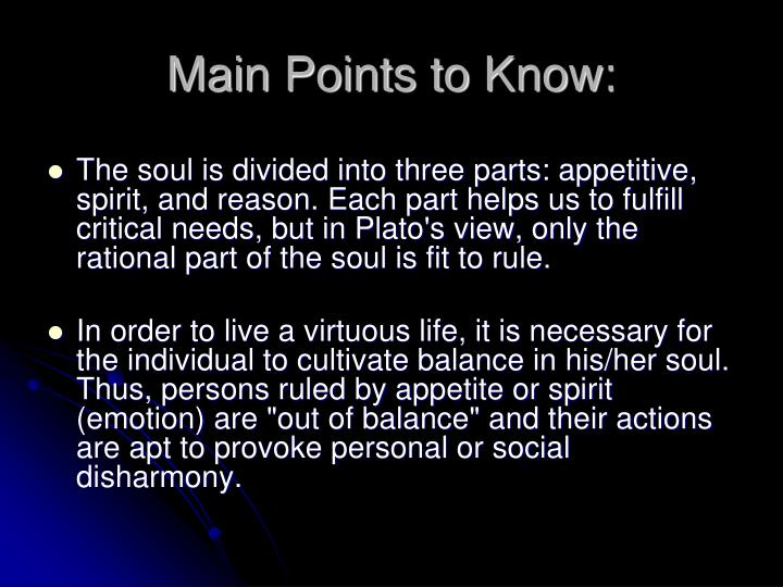 Main Points to Know: