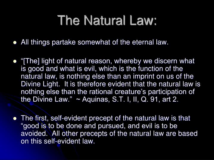 The Natural Law: