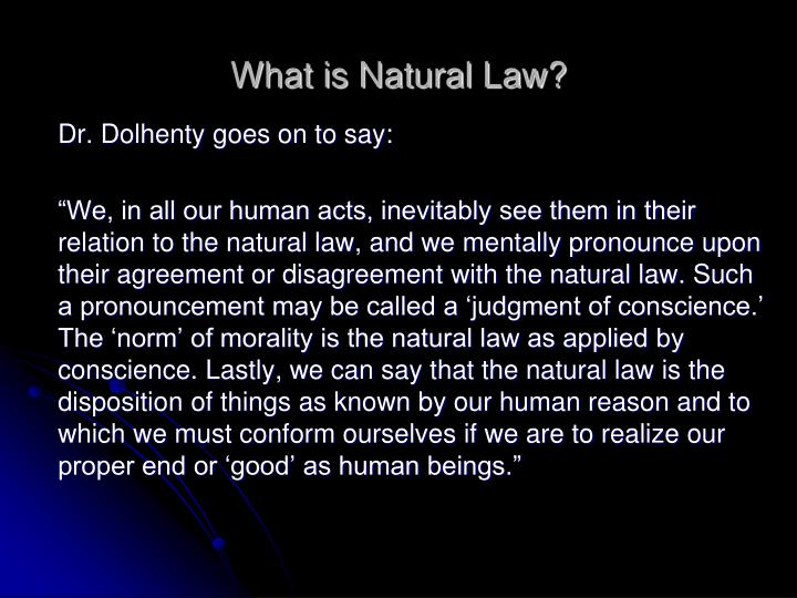 What is Natural Law?