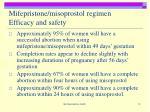 mifepristone misoprostol regimen efficacy and safety