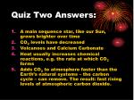 quiz two answers