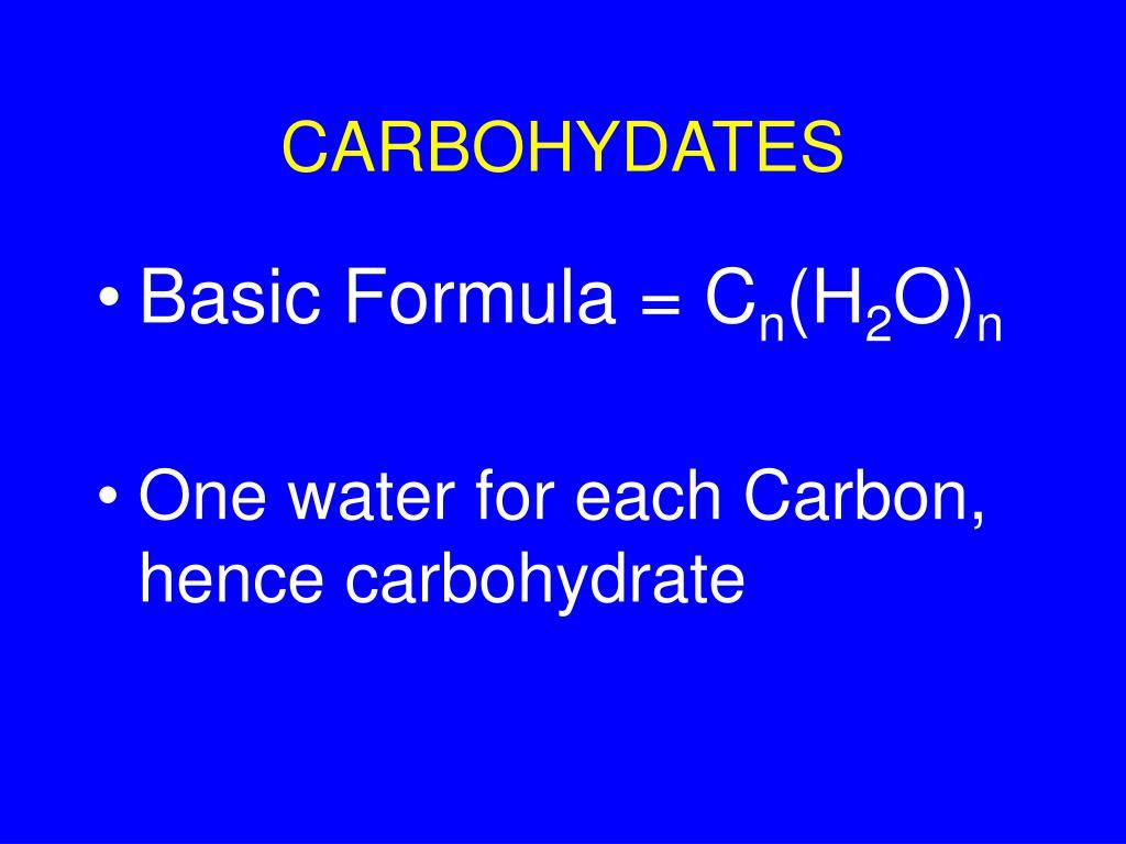 CARBOHYDATES