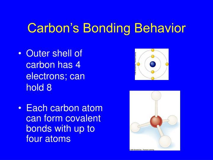 Carbon s bonding behavior