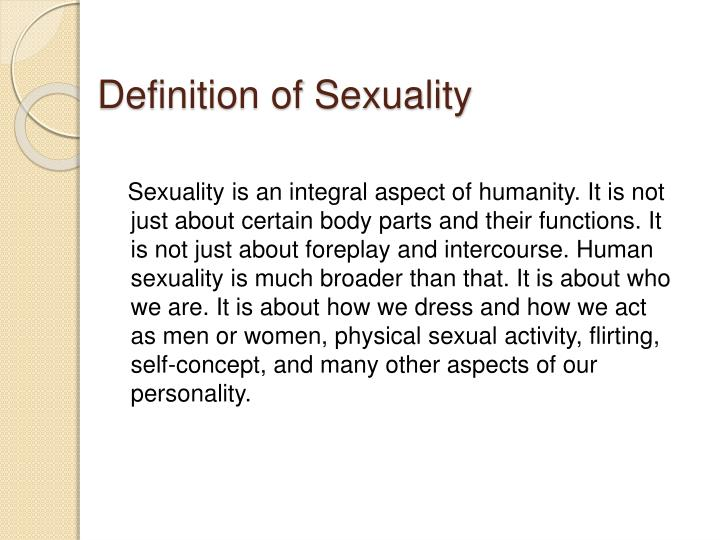 Definition of Sexuality
