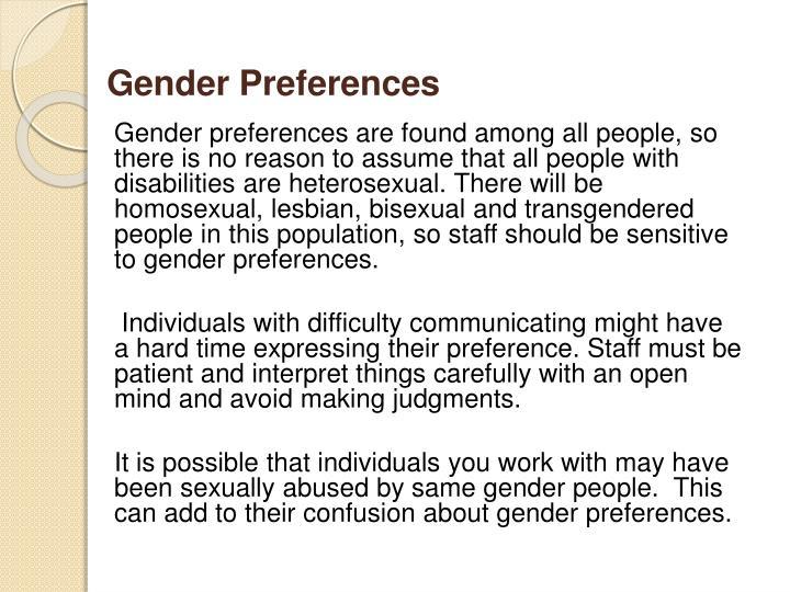 Gender Preferences