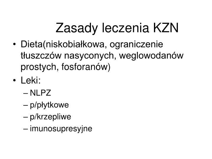Zasady leczenia KZN