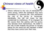 chinese views of health28