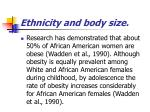 ethnicity and body size70