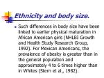 ethnicity and body size72