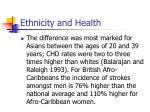 ethnicity and health62