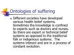 ontologies of suffering18