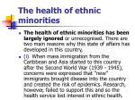 the health of ethnic minorities
