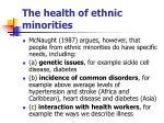 the health of ethnic minorities9