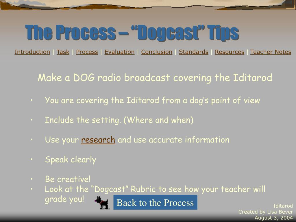 "The Process – ""Dogcast"" Tips"
