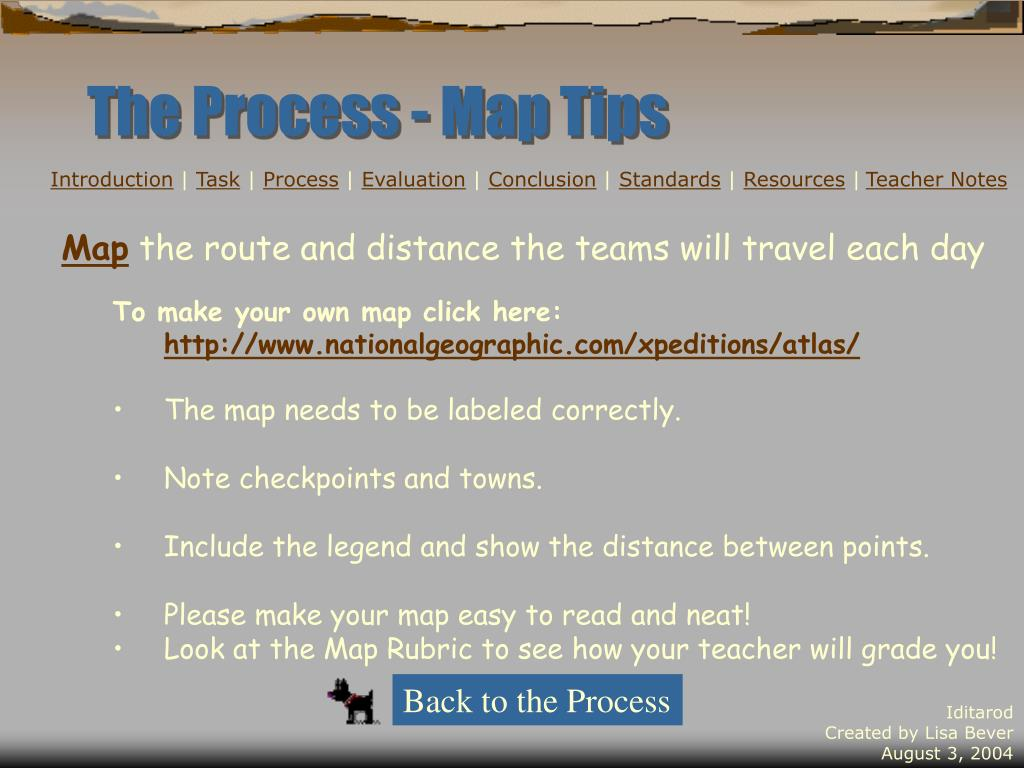 The Process - Map Tips