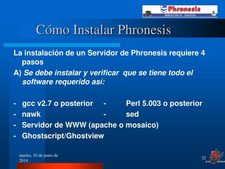 Cómo Instalar Phronesis