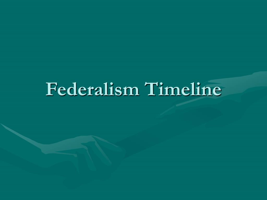 federalism timeline l.