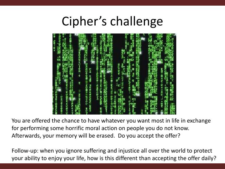 Cipher's challenge