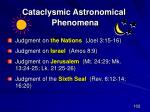 cataclysmic astronomical phenomena77