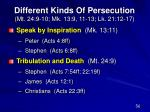 different kinds of persecution mt 24 9 10 mk 13 9 11 13 lk 21 12 17