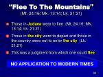 flee to the mountains mt 24 16 mk 13 14 lk 21 21