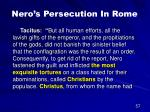 nero s persecution in rome