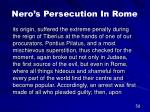 nero s persecution in rome36