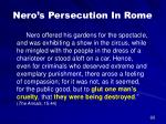 nero s persecution in rome38