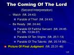 the coming of the lord second interpretation97
