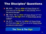 the disciples questions